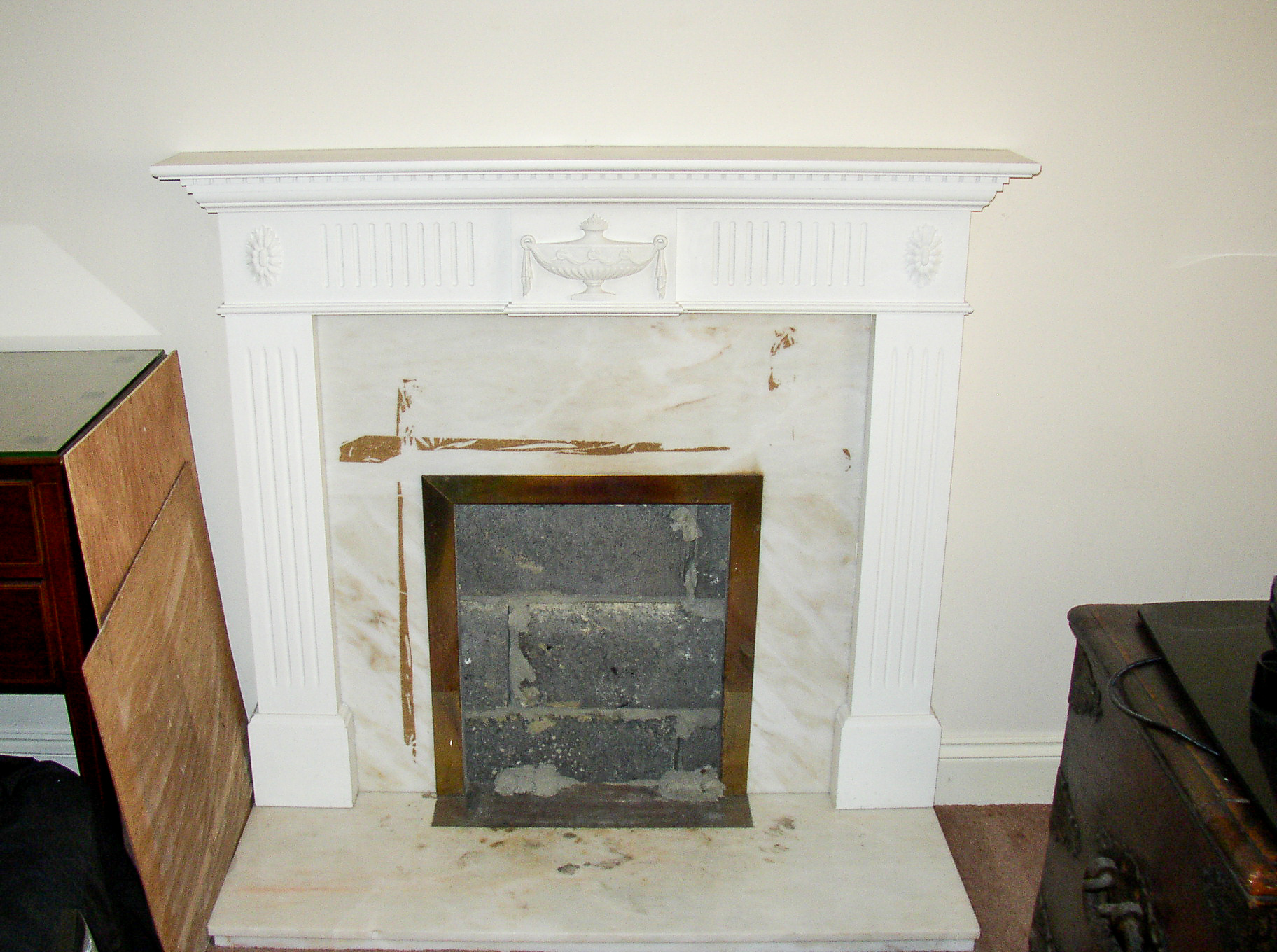 Bricked up fireplace