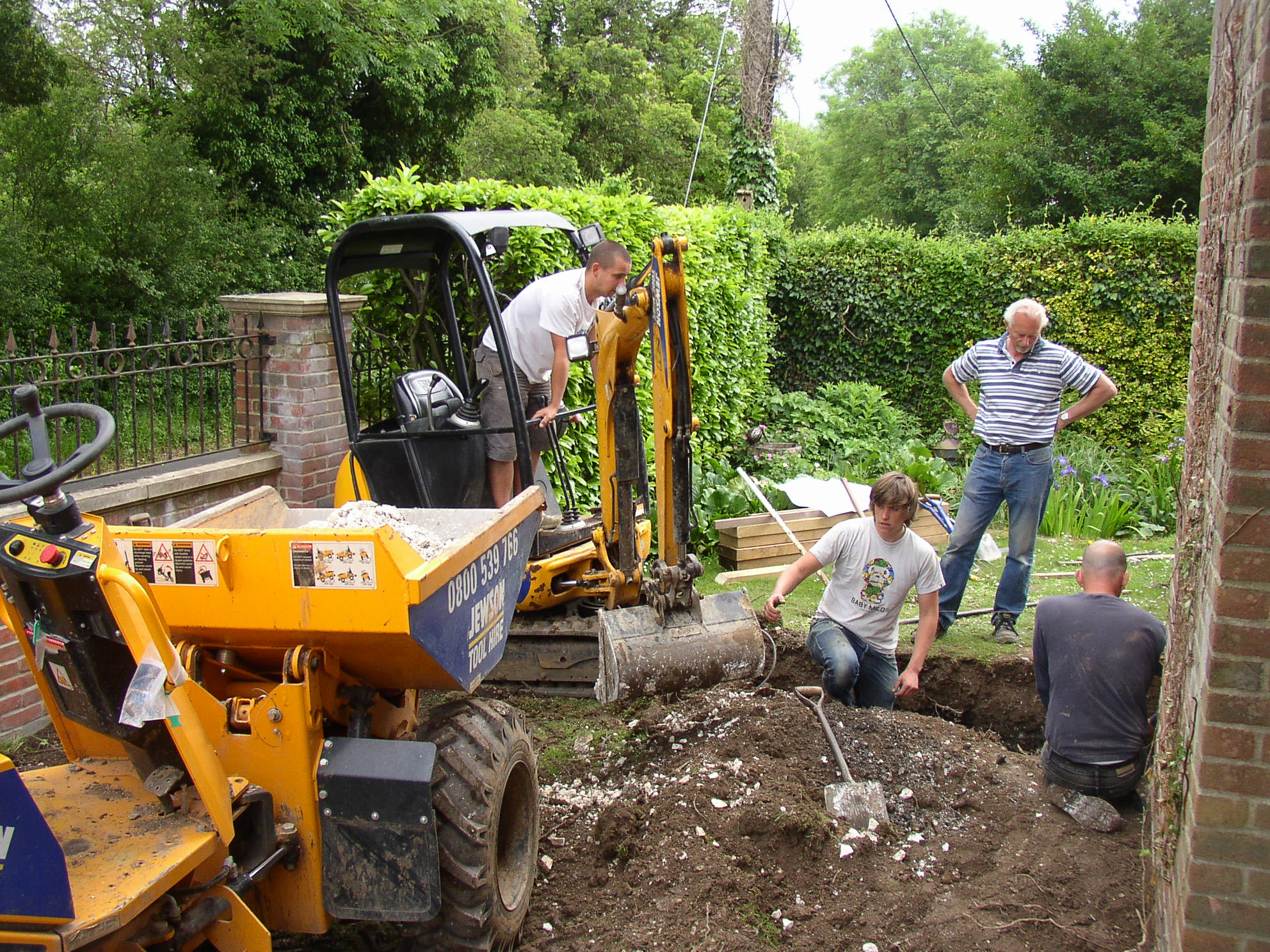 Digging out foundations