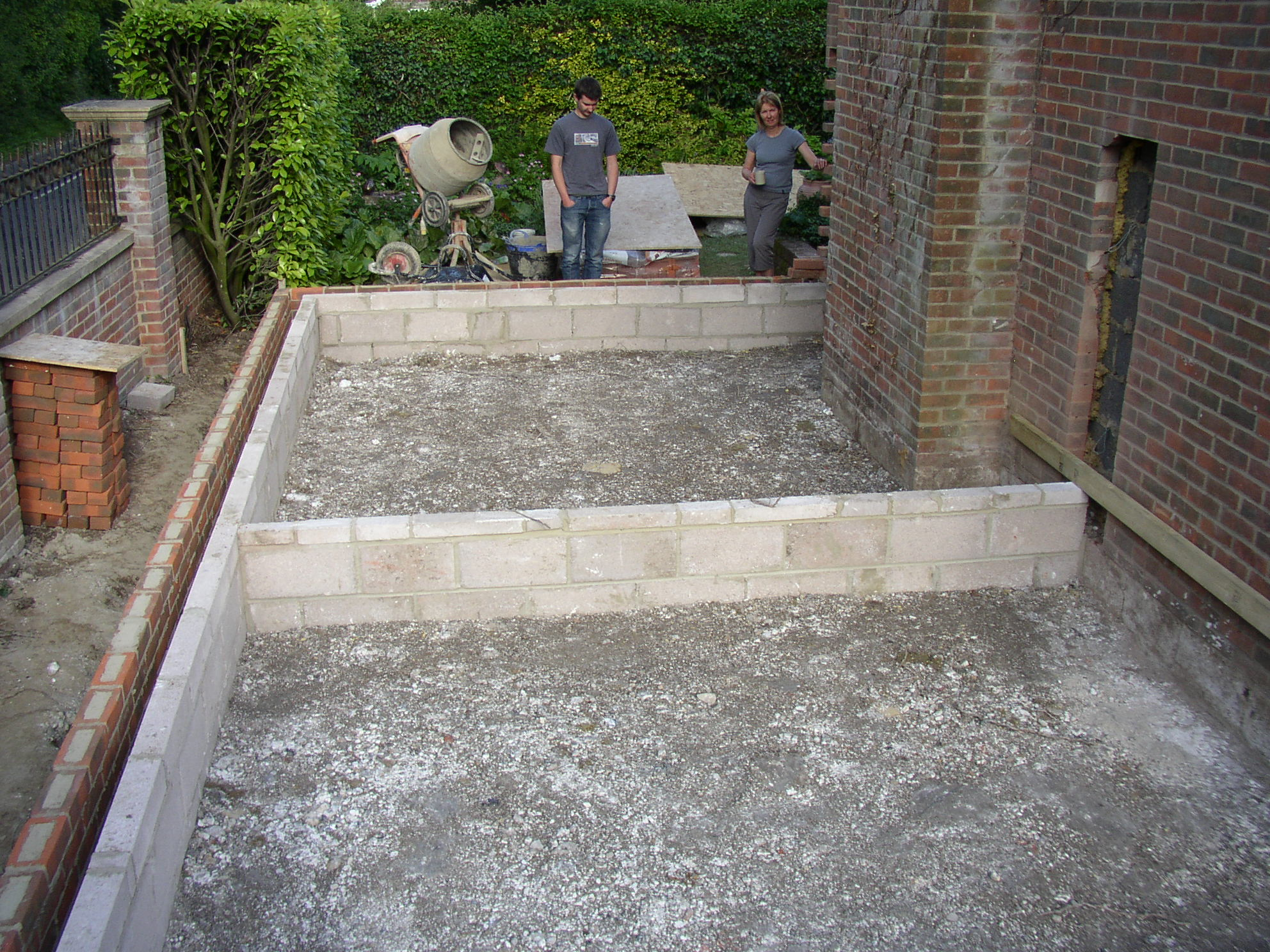 The foundations and start of building work