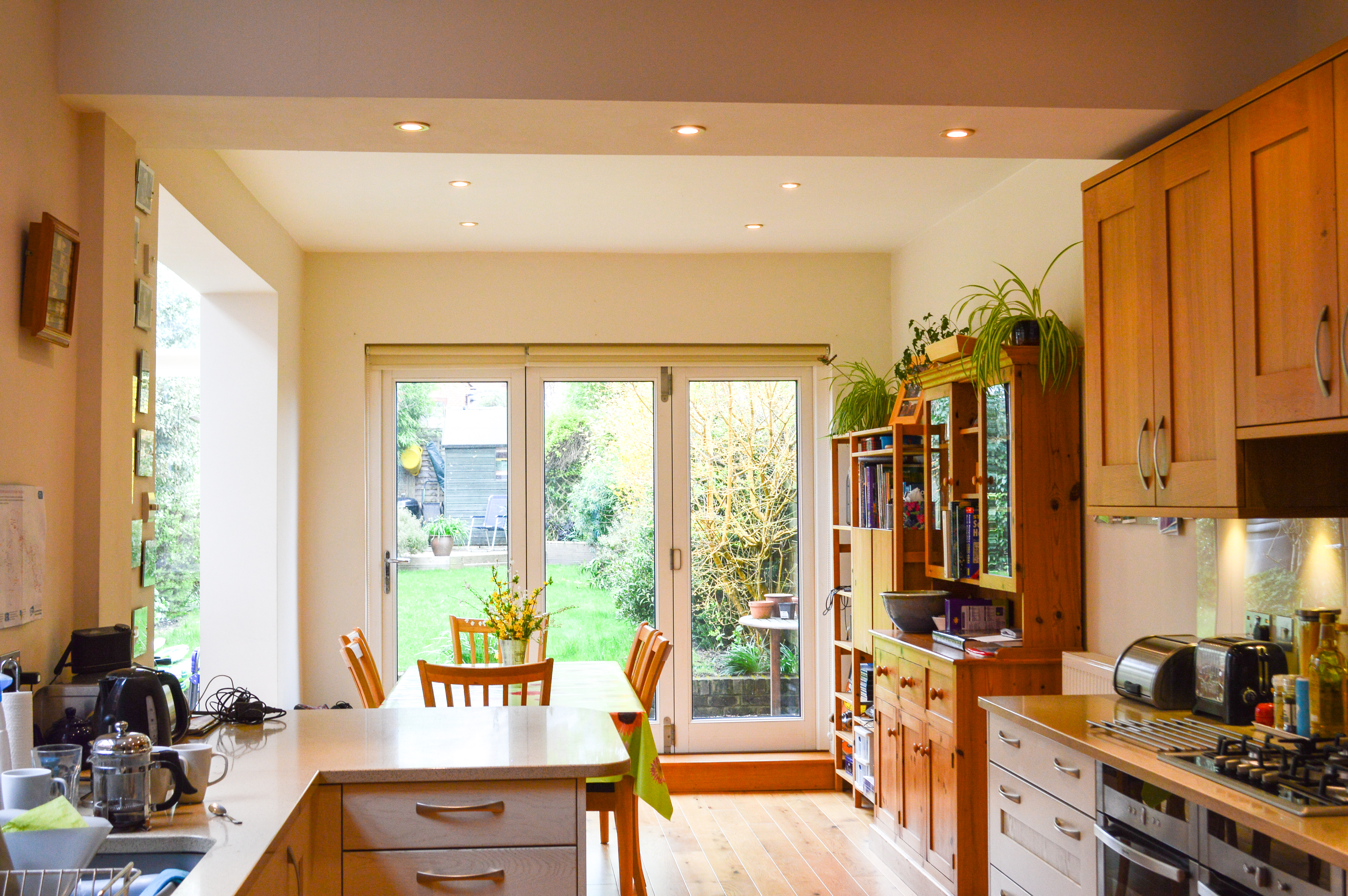 kitchen in a side extension