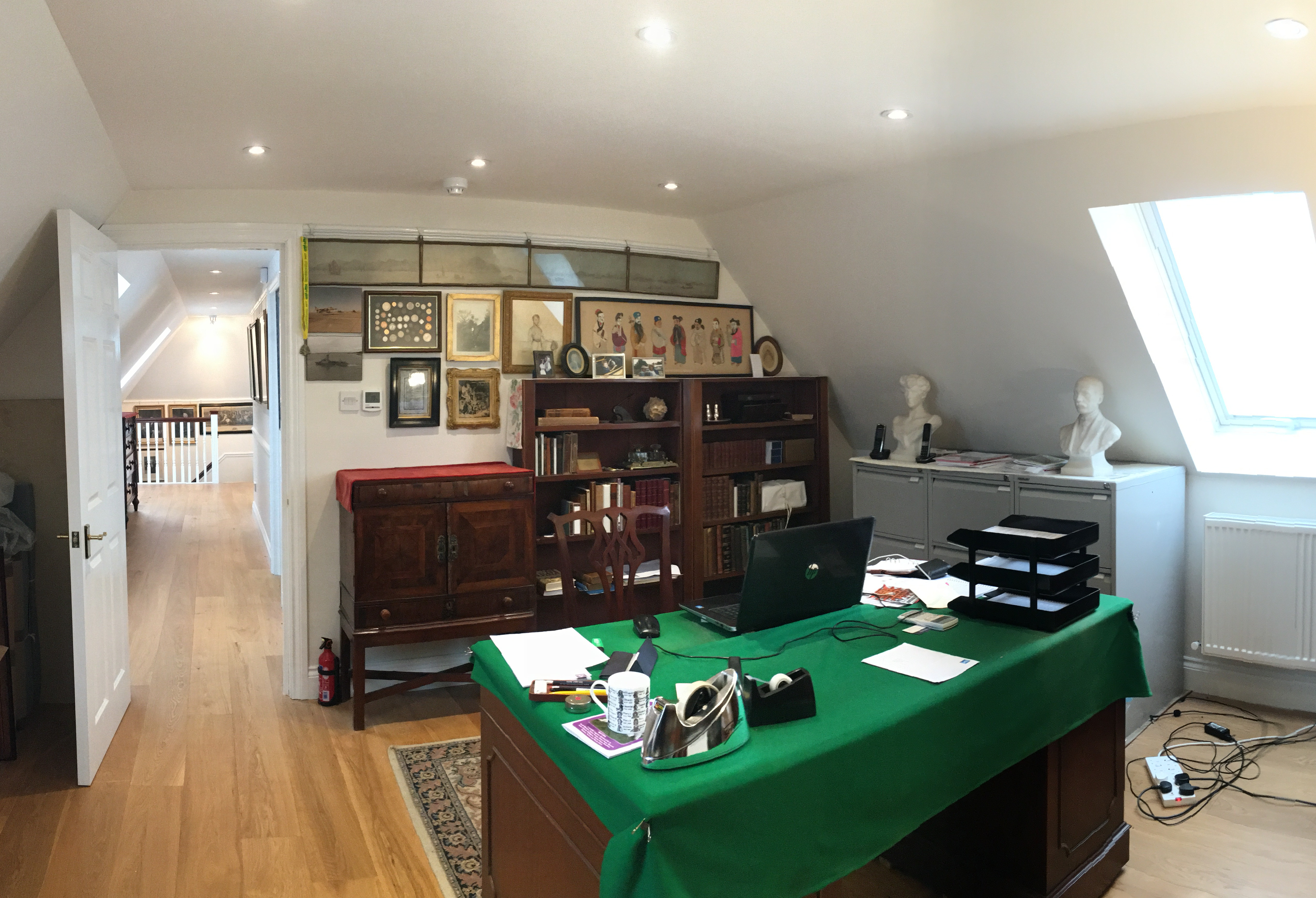 Office in the loft conversion