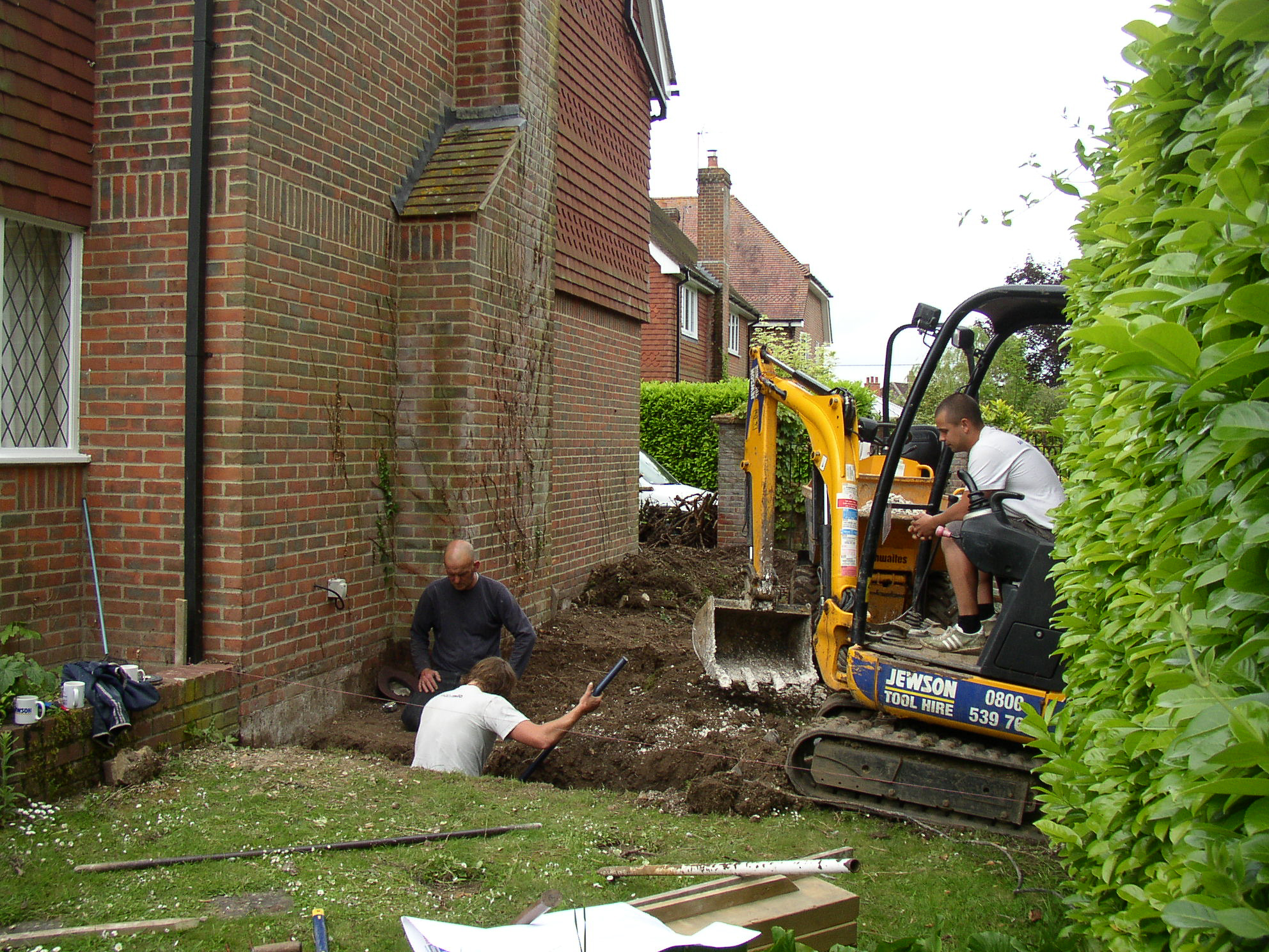 Digging foundations in the garden