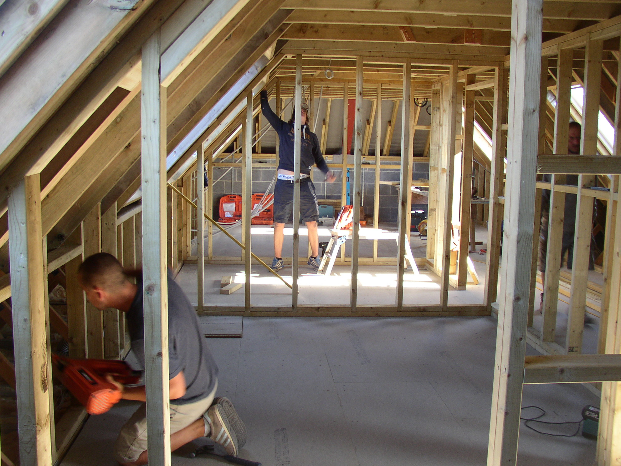 constructing internal walls for a loft conversion