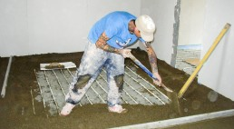 Re-laying concrete floor