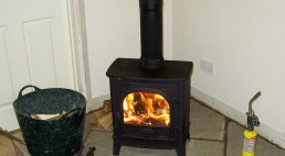 Testing the wood burning stove