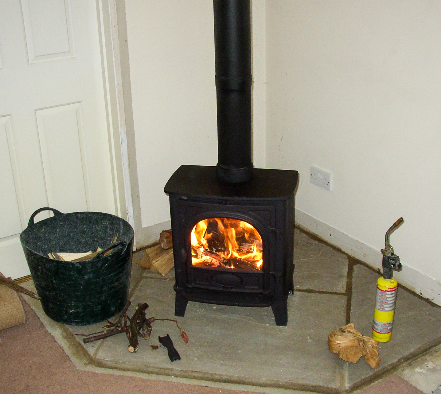 Installing and testing the wood burner