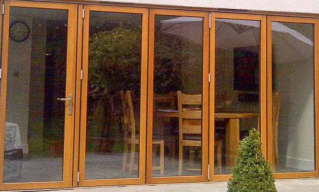 Wooden bifold door